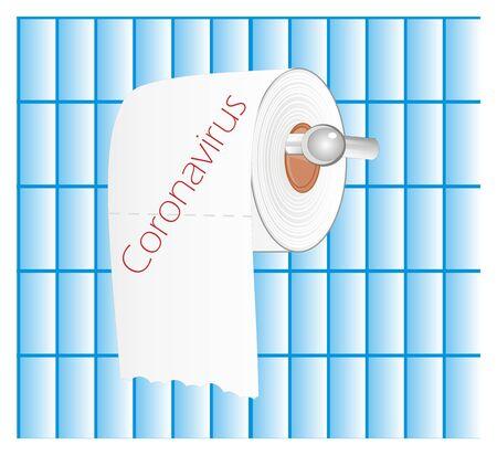 white toilet paper and coronavirus