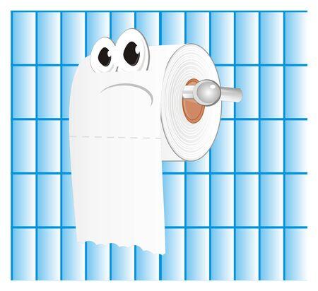 sad white toilet paper