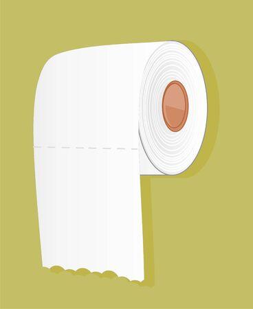white toilet paper Stockfoto