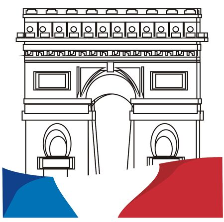 flag of France and not colored arc Stock fotó