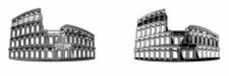 two different coliseum Stock fotó