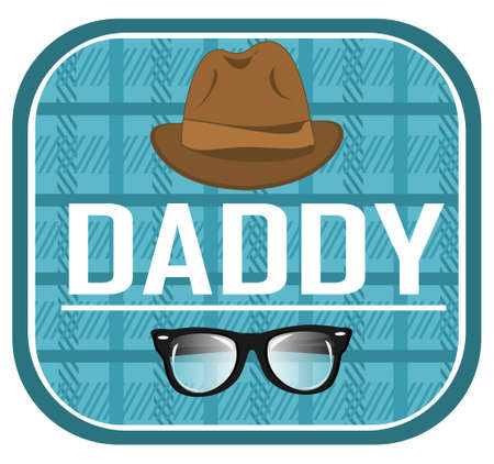 daddy and hat with glasses 免版税图像