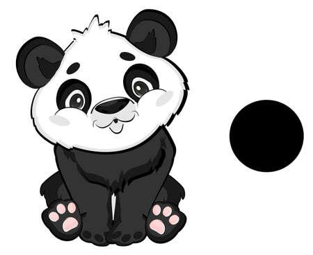 panda is black