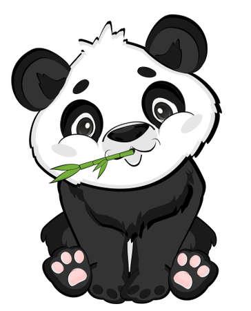 panda eat bamboo Stock fotó