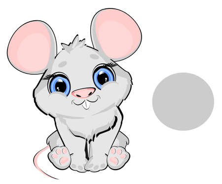 mouse has a gray color