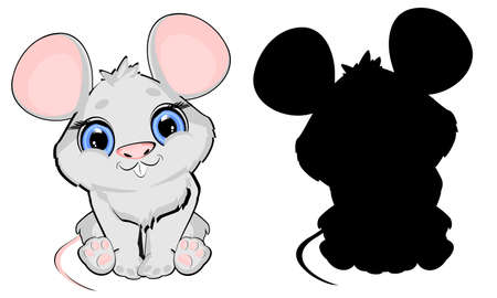 gray mouse and her sadow