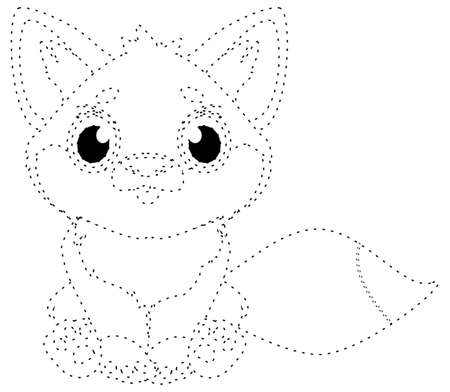 dotted line fox