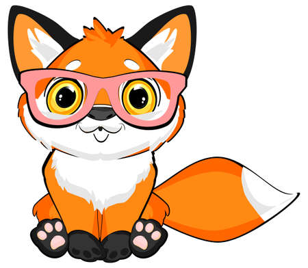 little fox with large glasses Stock fotó