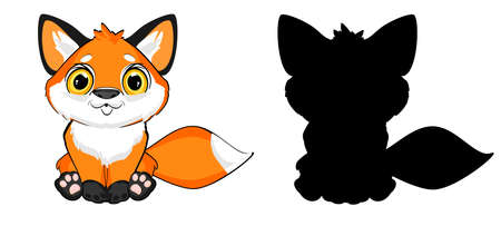 cute fox and her sjadow
