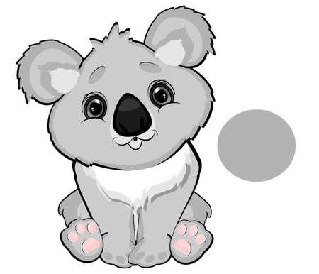 koala is gray