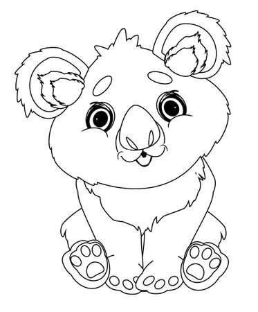 coloring koala Stock fotó