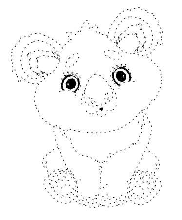 dotted line koala Stock fotó
