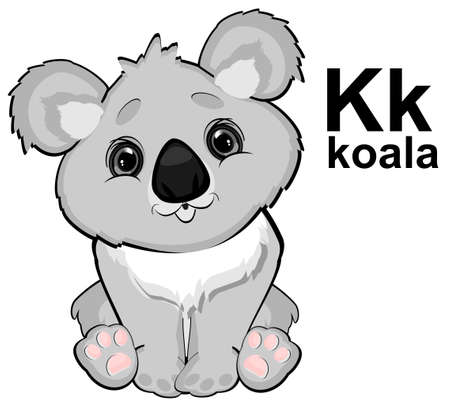 cute koala and abc