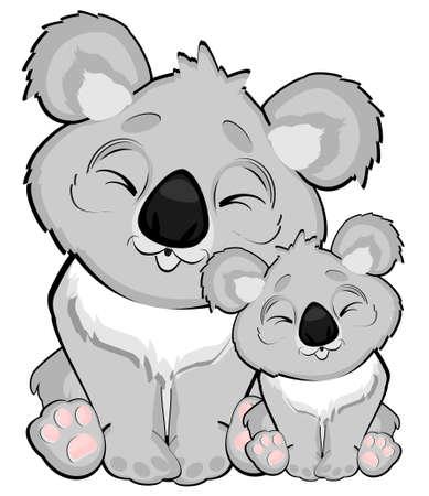mama and baby koalas Stock fotó
