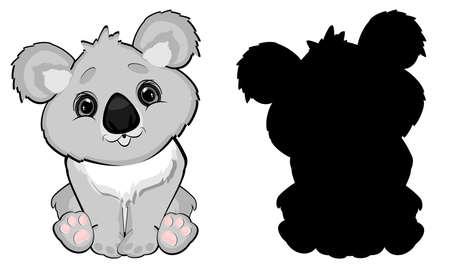 koala and her shadow