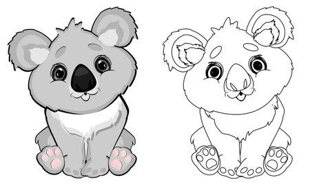 colored and coloring koalas Stock fotó