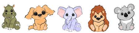 animals set cartoon