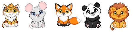 cutest animals cartoon Stock fotó