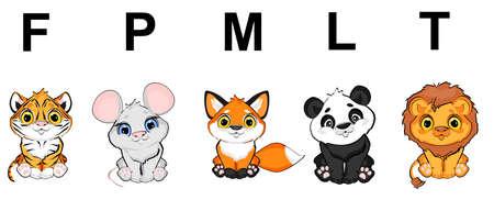 animals and alphabet