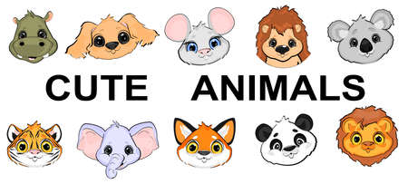 faces of cute animals Stock fotó