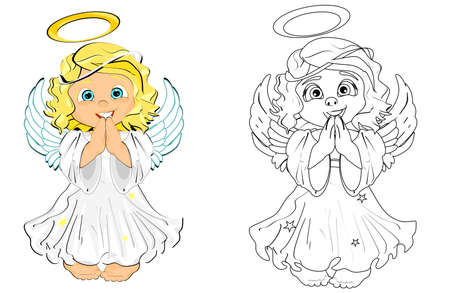 colored and coloring angels
