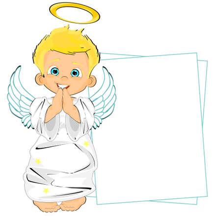 little angel boy Stock fotó