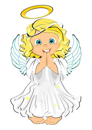 smiling cute angel Stock fotó