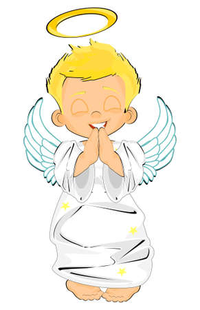 smiling angel boy