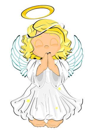 angel woth closed eyes Stock fotó