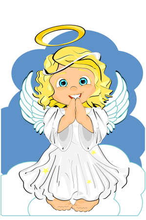 happy angel on heaven Stock fotó