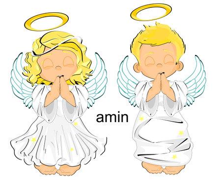 angels pray