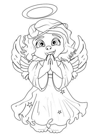 coloring book angel