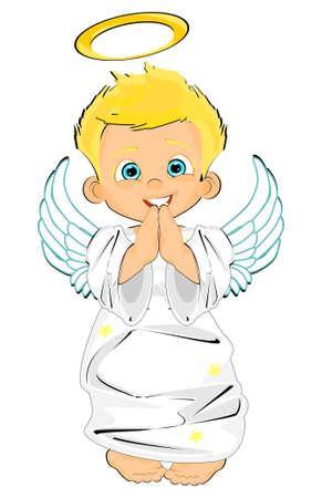 cute angel boy