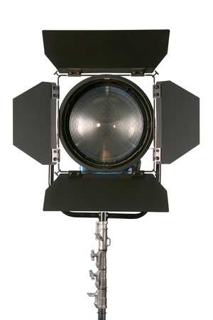 cinematograph: Cinematograph spotlight detail isolated on white background
