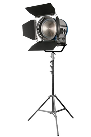 Cinematograph spotlight detail isolated on white background