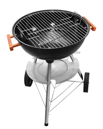Black barbecue appliance isolated on white background Stock Photo - 8654499