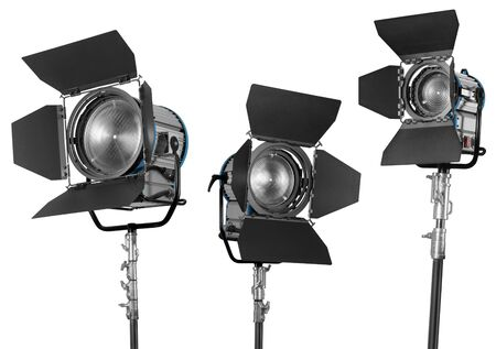Spotlight daylight equipment set on white background Stok Fotoğraf