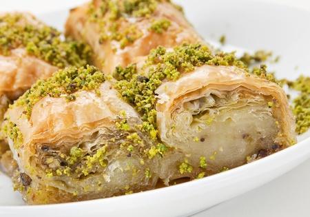 baklava: Baklava eastern sweet dessert closeup