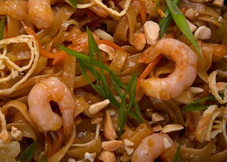 prepared shrimp: Seafood prepared shrimp with noodles