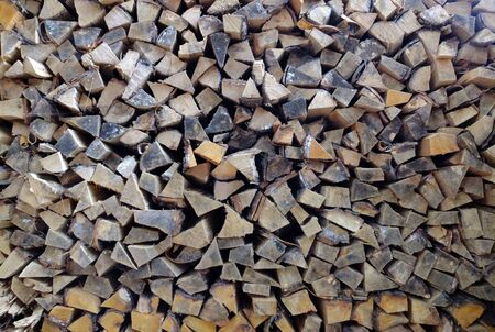 stack of firewood: A big stack of firewood.