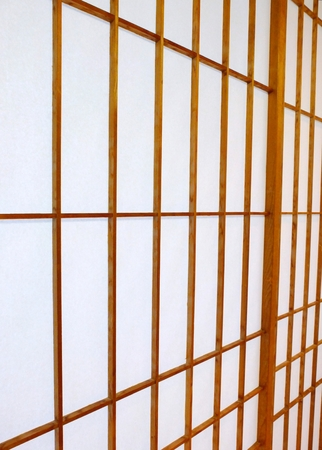 Shoji Sliding Door From Japan. Paper Panel And Wooden Frame. Stock Photo    67753280