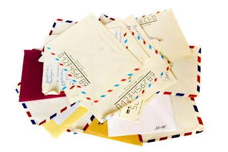 Stack of old letter isolated on white Stock Photo - 2067810