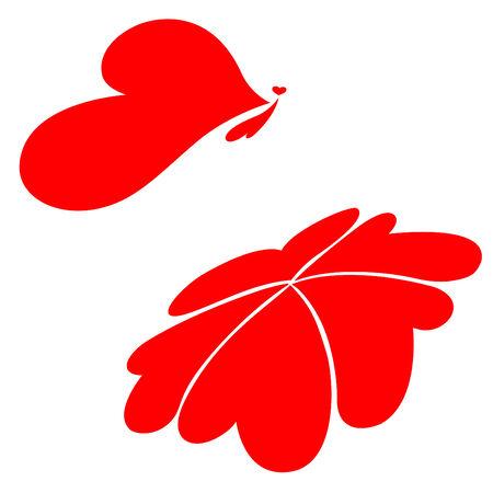 Butterfly over flower, Vector, Illustration Vector