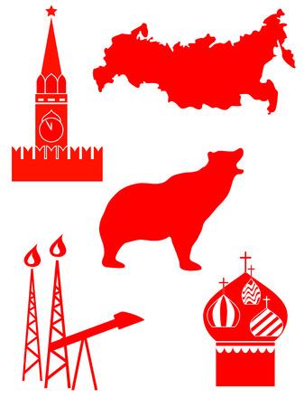 gaz: Vector Set Silhouette of a Russia