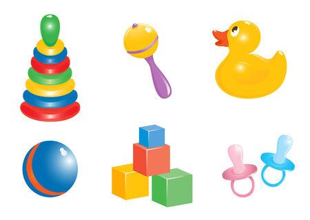 Zabawka zestaw ikon. Vector-Illustration Ilustracja