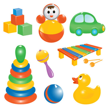 toy icon set. Vector-Illustration Stock Vector - 2870630