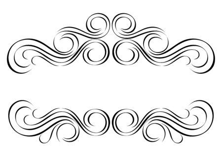 分離されたビンテージ スタイルのベクトルの飾り