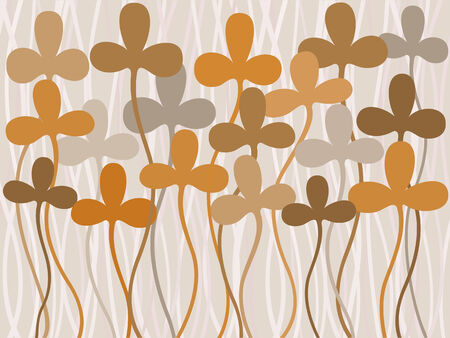 Plant background. Vector illustration. Vector