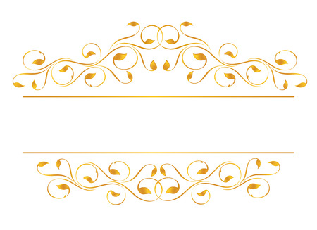 Vintage frame in gold. Symmetric inward. Vector-Illustration Vector