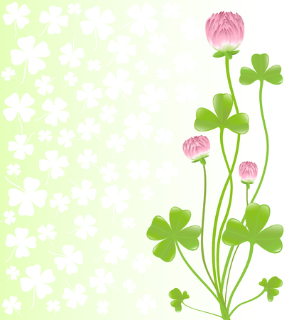 clovers: Clover ornament. Background for design. Vector-Illustration. Illustration
